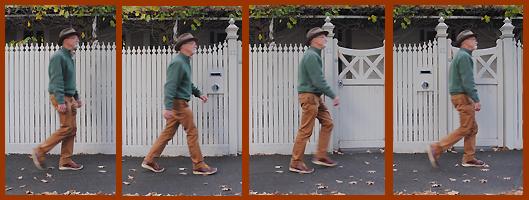 Pic of Richard walking